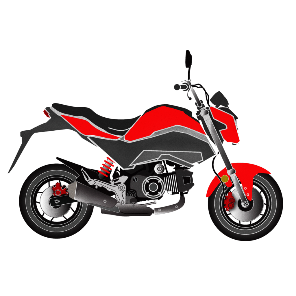 Honda Grom Artworl. Drawing by Mondo Lulu
