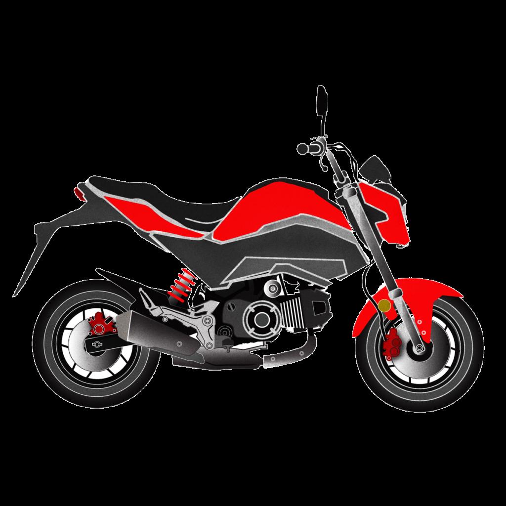 Honda Grom Artworl. Drawing by Mondo Lulu